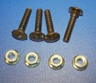 COIN DOOR CARRIAGE BOLT SET W/ NUTS